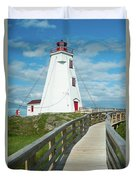 Swallowtail Lighthouse Duvet Cover