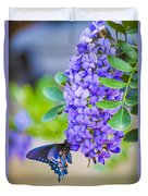 Swallowtail On Mountain Laurel Duvet Cover