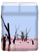 Swamp And Dead Trees Duvet Cover