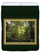 Swamp L A With Decorative Ornate Printed Frame. Duvet Cover