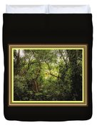 Swamp L B With Decorative Ornate Printed Frame. Duvet Cover