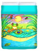 Swamp Life Duvet Cover