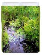 Swamp Plants Duvet Cover