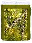 Swamp Reflections Abstract Duvet Cover