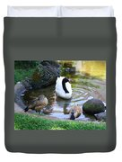 Swan And Wood Ducks Duvet Cover