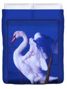 Swan At Cape May Point State Park  Duvet Cover
