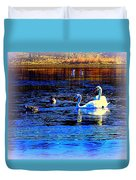 When It Seems Like The Swans Are Ruling The Sea  Duvet Cover by Hilde Widerberg
