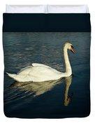 Swan Blasting Away Duvet Cover