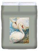 Swan Couple Duvet Cover