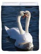 Swan Courtship  Duvet Cover