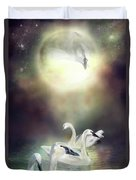 Swan Dreams Duvet Cover