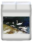 Swan Feather Duvet Cover