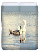Swan G Duvet Cover
