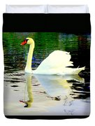 Who Is Afraid Of The Big White Swan  Duvet Cover by Hilde Widerberg