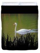 Swan In The Pond Duvet Cover