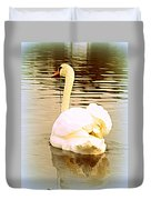 swan in the genus Cygnus Duvet Cover