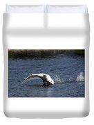 Swan Landing 3 Duvet Cover