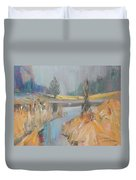 Swan On The Lake Duvet Cover