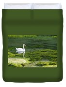 Swan On The River Lathkill Duvet Cover