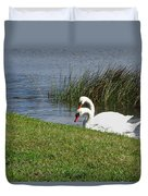 Swan Pair As Photographed Duvet Cover