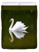 Swan Reflecting Duvet Cover