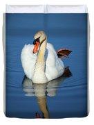 Swan Reflection Duvet Cover