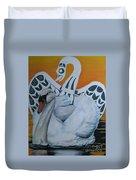 Swan Totem Duvet Cover