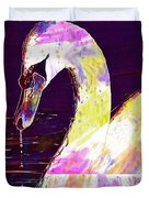 Swan White Water Bird White Swan  Duvet Cover