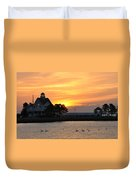Swans At Sunrise  Duvet Cover
