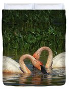 Swans In A Pond  Duvet Cover