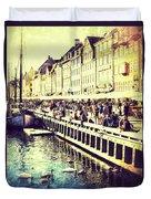 Swans In Nyhavn Duvet Cover