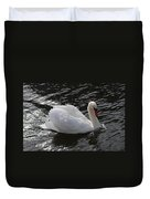 Swans Reflection Duvet Cover