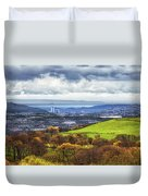 Swansea And Mumbles Duvet Cover