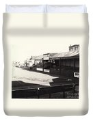 Swansea - Vetch Field - North Bank 1 - Bw - 1960s Duvet Cover
