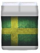 Sweden Distressed Flag Dehner Duvet Cover