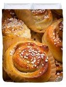 Swedish Cinnamon Rolls Duvet Cover