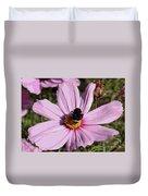 Sweet Bee On Pink Cosmos - Digital Art Duvet Cover