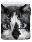 Sweet Blue Eyes Duvet Cover