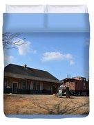 Sweet Briar Train Station Duvet Cover