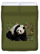 Sweet Faced Chinese Giant Panda Bear Sitting Down Duvet Cover