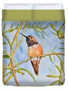 Sweet Hummingbird Duvet Cover