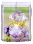 Sweet Iris Pastel Duvet Cover