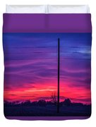 Sweet Nebraska Sunset 004 Duvet Cover