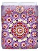 Sweet Pea Iris Frivolity Duvet Cover