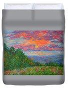 Sweet Pea Morning On The Blue Ridge Duvet Cover
