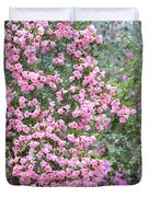 Sweet Pink Southern Azaleas Duvet Cover