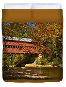 Swift River Covered Bridge In Conway New Hampshire Duvet Cover