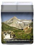 Swiftcurrent Falls Glacier Park 1 Duvet Cover