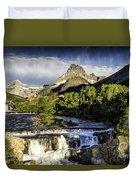 Swiftcurrent Falls Glacier Park 3 Duvet Cover