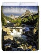 Swiftcurrent Falls Glacier Park 4 Duvet Cover